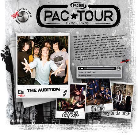 pacsun concert series microsite design interactive flash developer