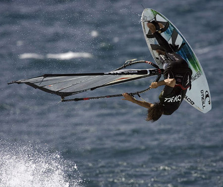 goya board and sails logo design and product graphis for high end performace brand and world champion wind surfer