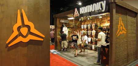 trade show booth design layout for action sports brand at asr and surf expo SIA and magic