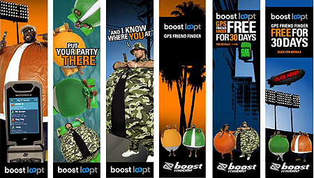 boost loopt interactive banner design direction graphics and layout