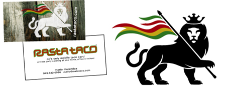 restaurant logo graphics and branding example, business card, signage, menu, website, vehicle wraps