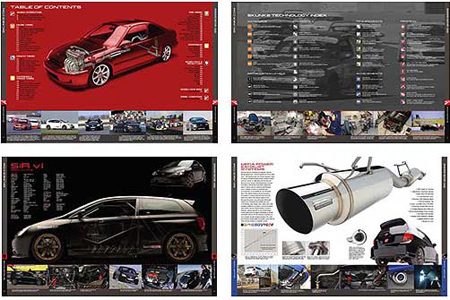 skunk2 racing performance automotive catalog design inside spread examples pre printing production and art direction bxc agency
