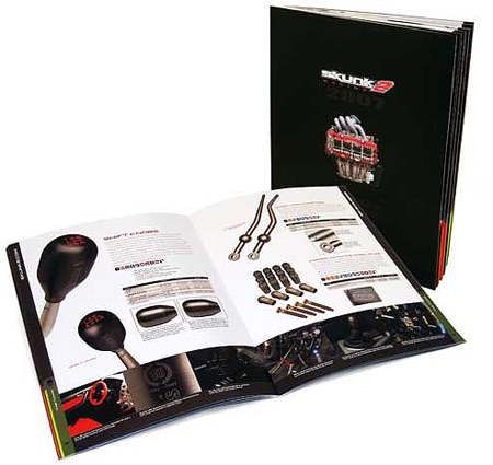skunk 2 racings consumer parts catalog designed by bxc in orange county california