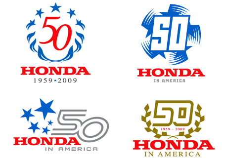 Automotive and Motorsports 50th anniversary logo design concepts from designer Drew Dougherty at BXC branding and design an orange county firm
