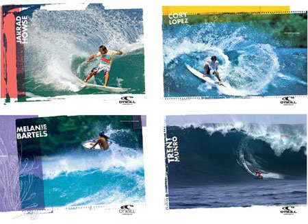 ad campaign concepts for europe o'neill surfing advertising ad agency BXC of Orange County