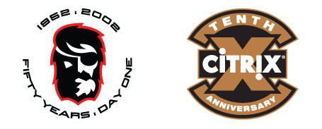 50th and 10th anniversary logo designs for main stream and sports brands