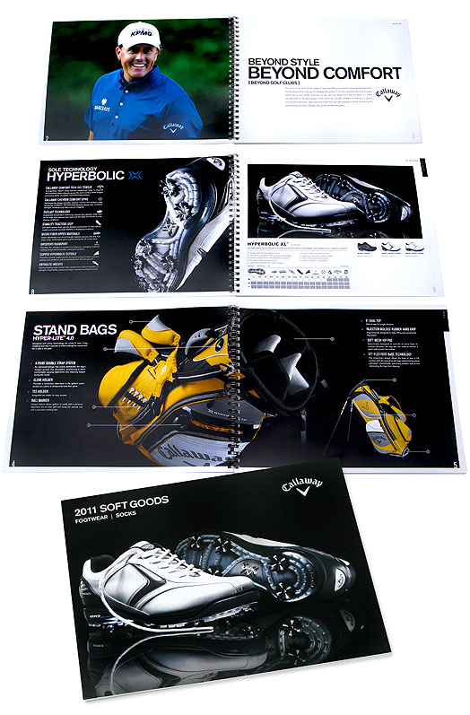 callaway golf ad agency design firm catalog promotion sales workbook creation sports advertising