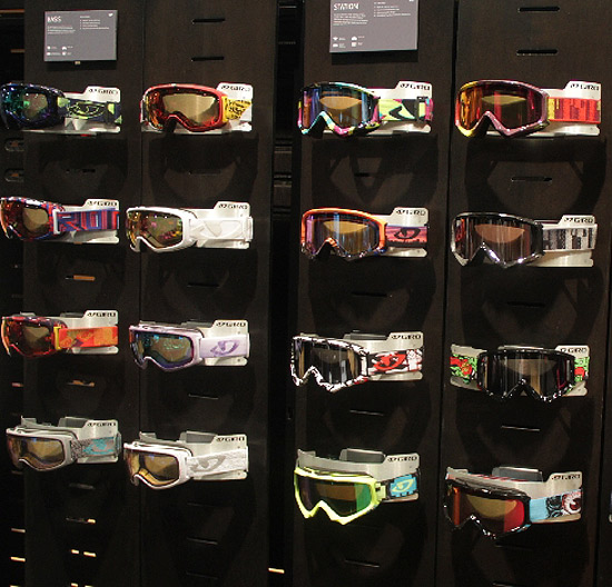 BXC designed Giro snowboard and ski product graphics at SIA Goggles and helmets