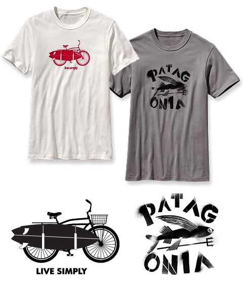 patagonia logo screen prints by artists bethany ng, troy white and drew dougherty of bxc