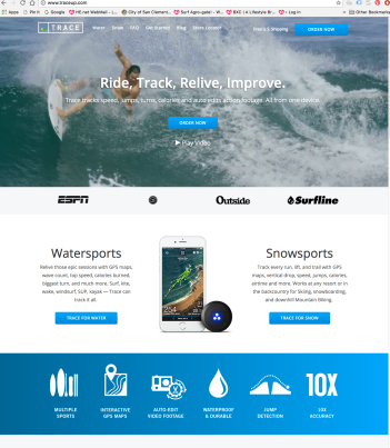 Traceup.com website design