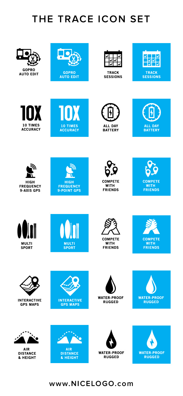 Trace logo icons sampler by BXC